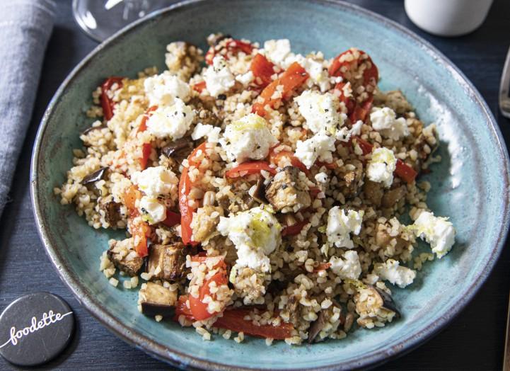 Boulgour à la Feta et aux légumes rôtis