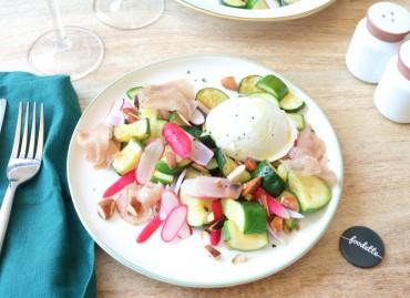 Assiette de saison, Lomo et Mozzarella truffée