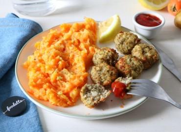 Boulettes de poisson maison et purée acidulée