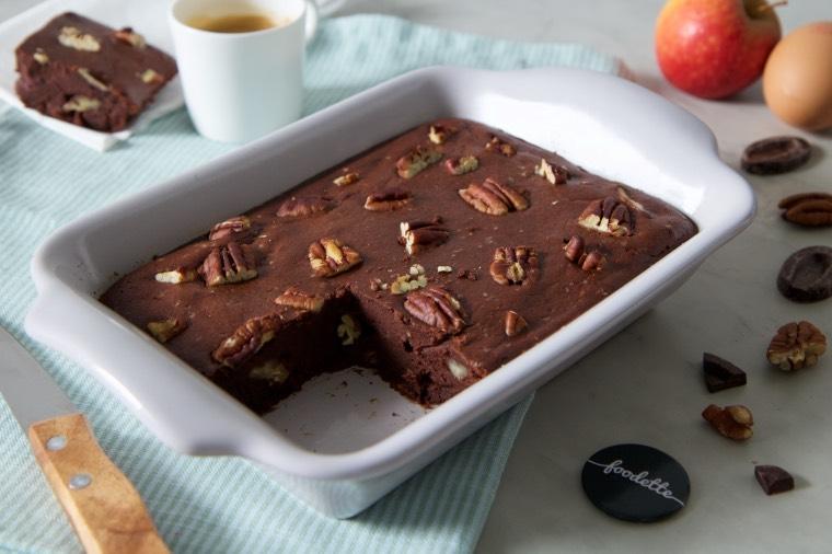 Brownie surprise au chocolat et noix de pécan