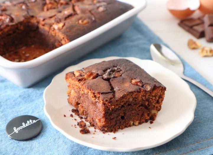 Brownie chocolat au lait et noix