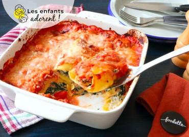 Cannelloni aux couleurs de l'Italie