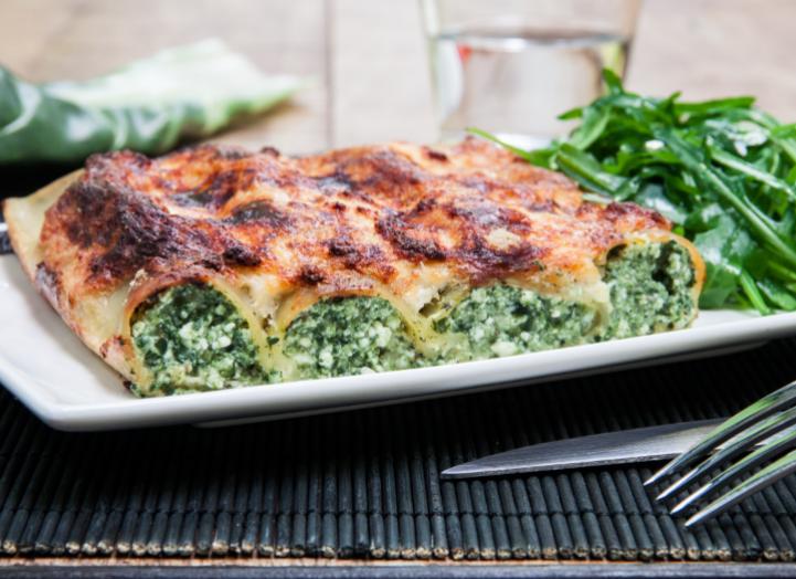 Cannelloni tout verts aux blettes et au ch vre la - Comment cuisiner les feuilles de blettes ...