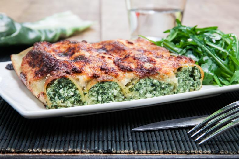 Cannelloni tout verts aux blettes et au chèvre