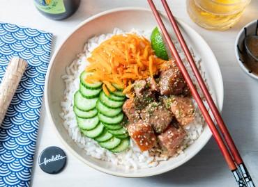 Chirashi saumon/concombre/carotte