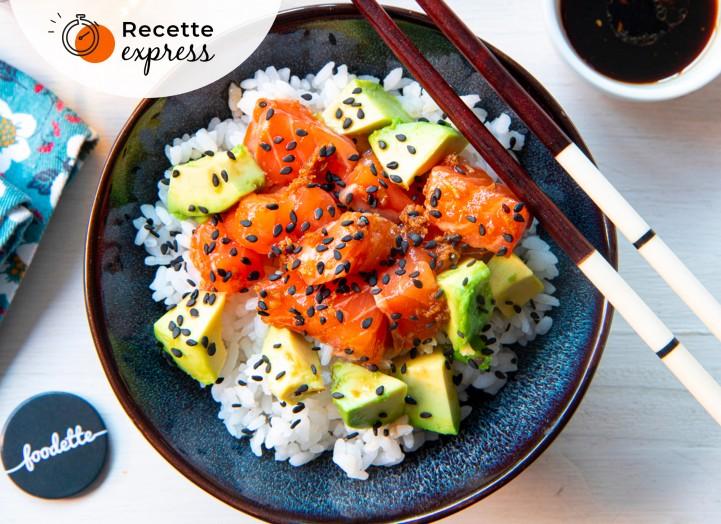 Chirashi saumon/avocat