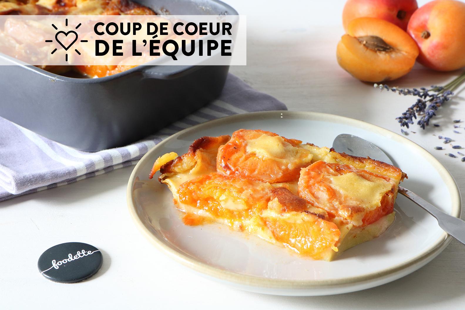 Clafoutis abricots-lavande