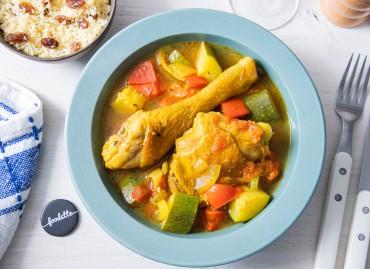 Couscous de poulet au ras-el-hanout et légumes de saison