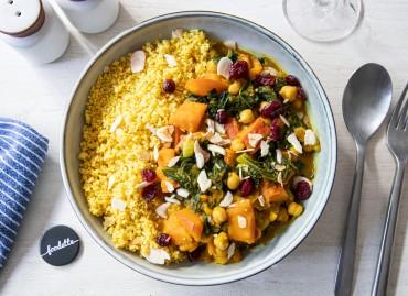 Couscous d'automne à la courge et chou kale