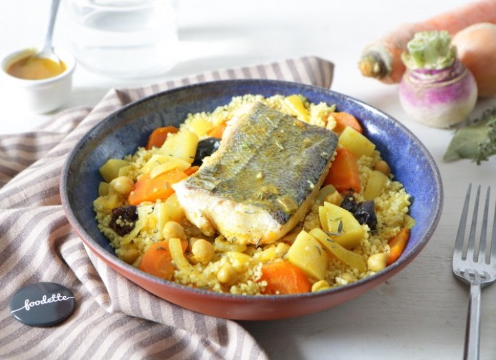 Poisson et légumes façon couscous comme à Essaouira