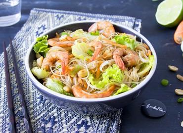 Salade thaï de crevettes