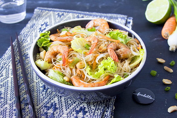 salade tha de crevettes la recette de salade tha de. Black Bedroom Furniture Sets. Home Design Ideas