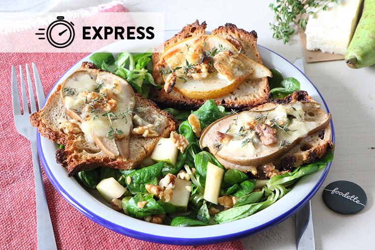 Bruschetta poire/gorgonzola