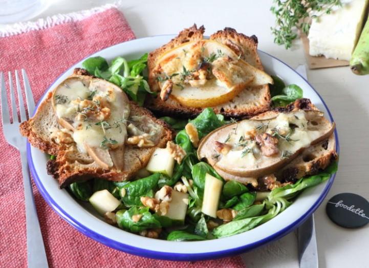 Crostini di pera e Gorgonzola