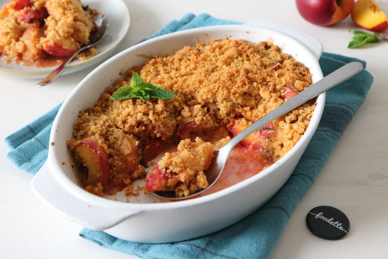Crumble nectarines-menthe