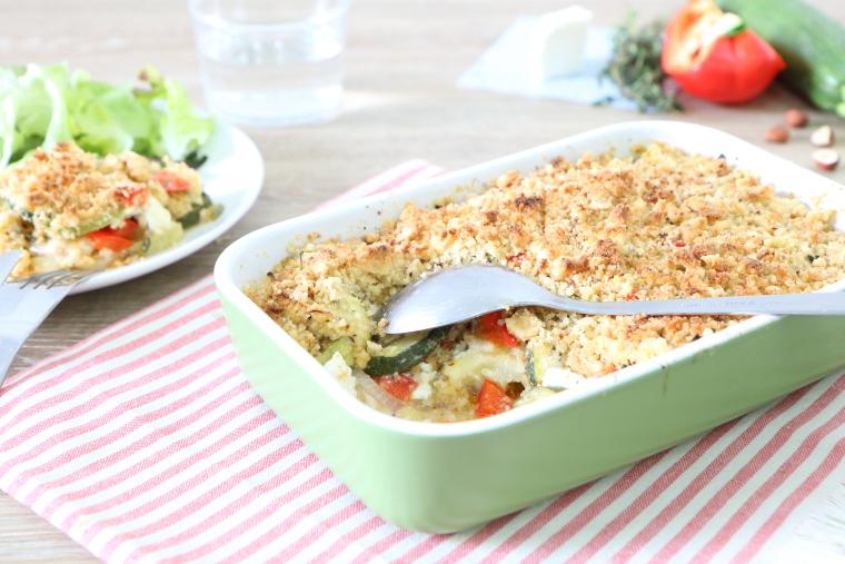 Crumble noisette de légumes d'été