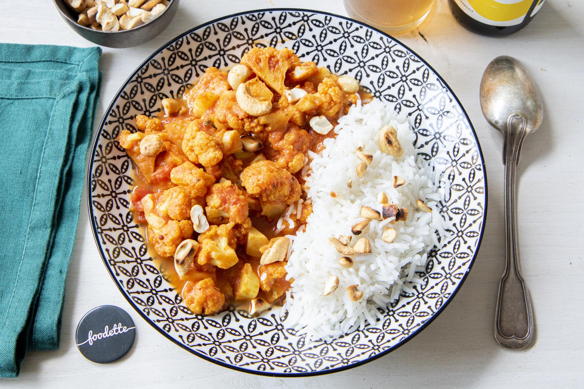 Curry chou-coco-cajou