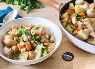 Curry thaï de légumes nouveaux