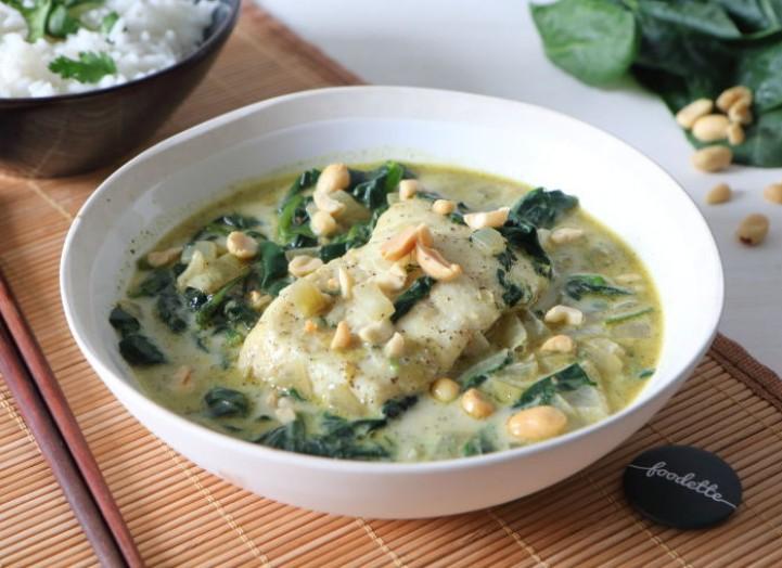 Curry thaï merlu-coco