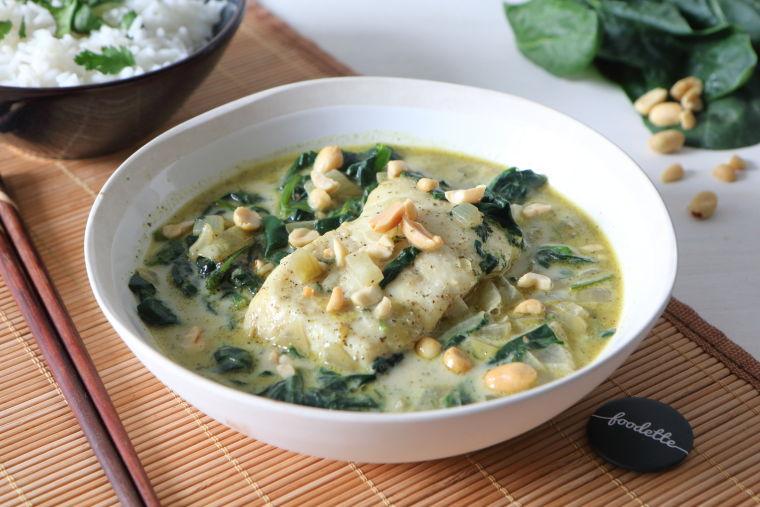 Vert : Curry thaï poisson-coco