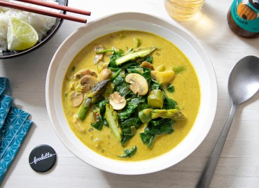 Curry vert thaï aux asperges