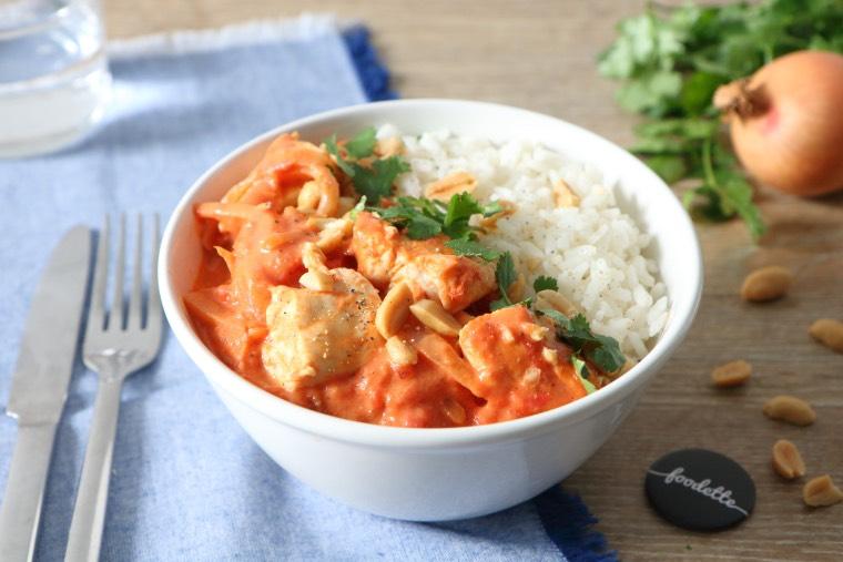 """Curry """"fusion"""" de poulet fermier"""