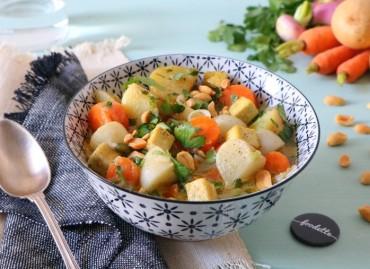 Curry vert de légumes nouveaux