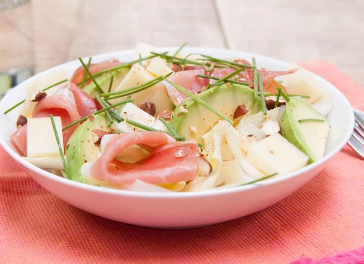 Amer : Salade d'endives au speck et moutarde violette