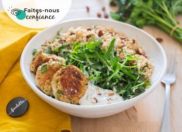 Assiette méditerranéenne et falafels maison