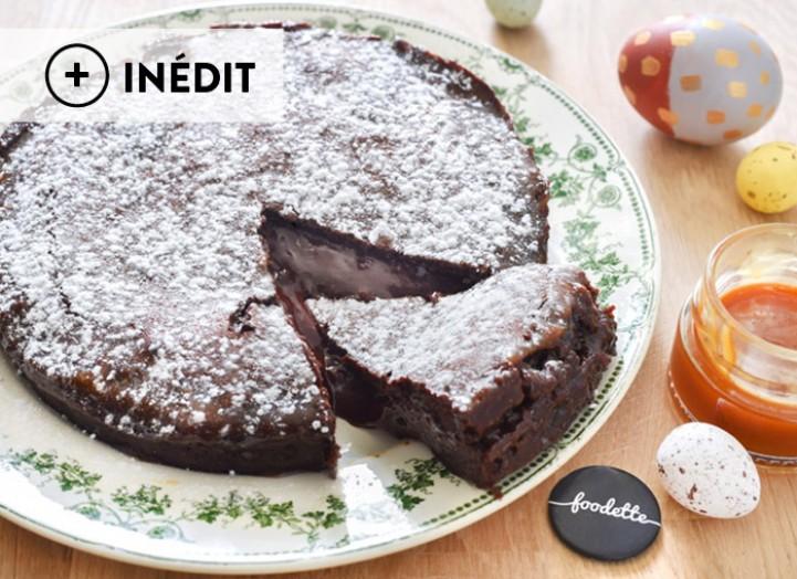 Gâteau choco-caramel