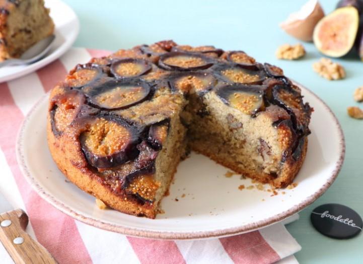 Gâteau renversé aux figues fraîches