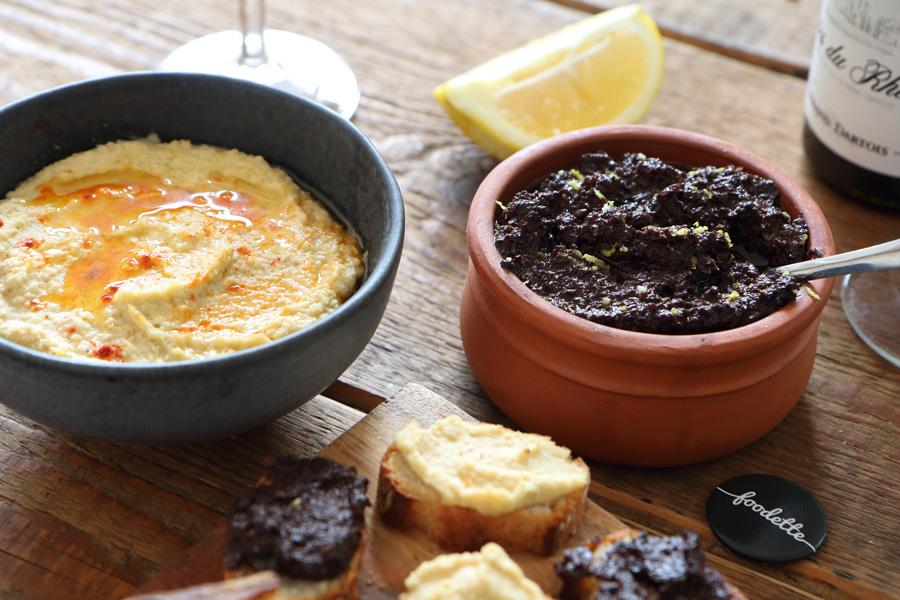 Le duo apéro ! Houmous & crème d'olive