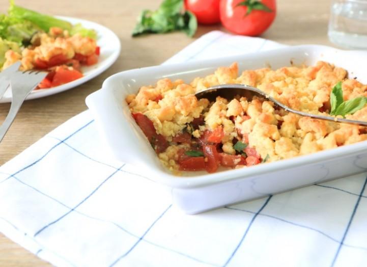 Crumble tomates-basilic au Grana Padano AOP