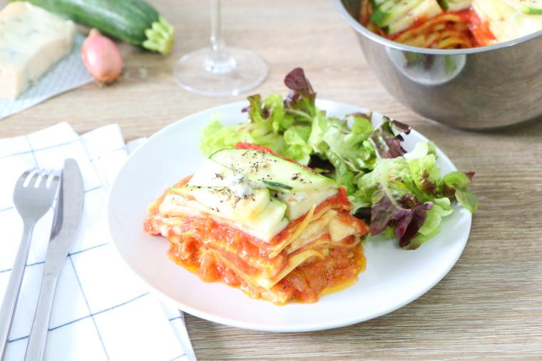 Lasagnes aux courgettes et gorgonzola