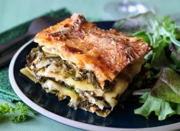 Lasagnes Kale/Chèvre frais sans gluten
