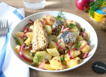 Assiette nordique aux pommes de terre et maquereaux marinés