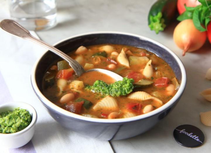 Soupe provençale au pistou