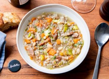 Minestrone au sarrasin et p'tits légumes d'hiver