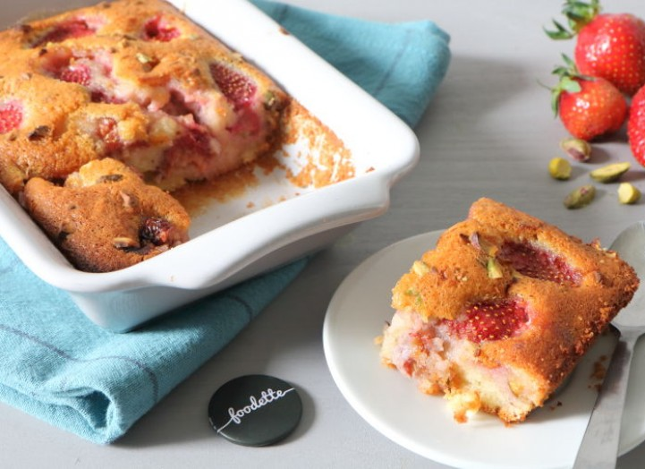 Moelleux fraises-pistaches