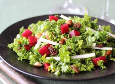 Salade de kale toute crue