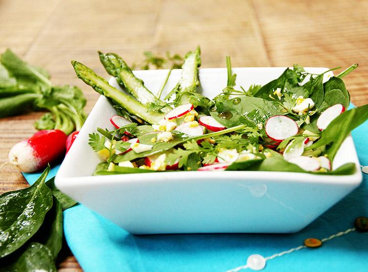 Salade d'asperges très croquante