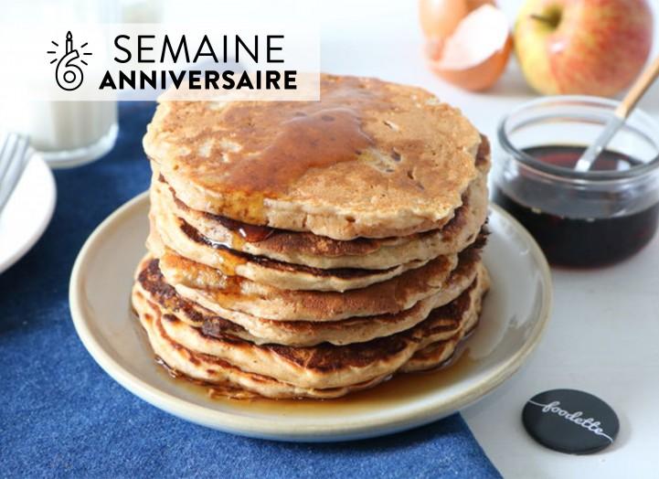 Pancakes super moelleux pomme-érable d'Alexandra
