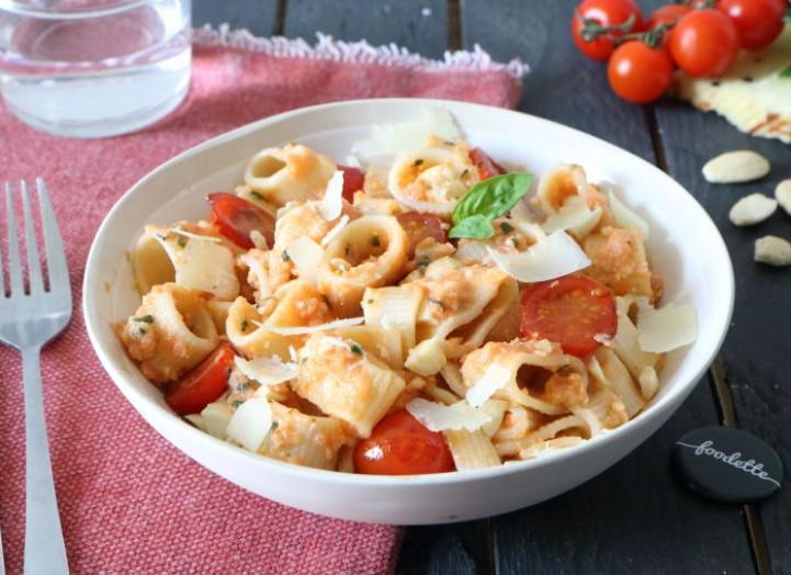 Cannelloni rigate con il pesto alla trapanese (Sicile)