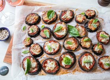 Aubergine/Mozza façon pizza