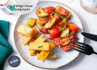 Poêlée de légumes à la provençale et frites de panisse