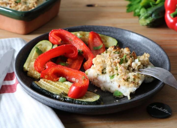 Poisson à la bordelaise et légumes grillés