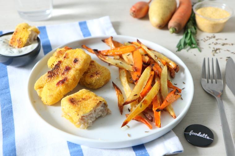 Poisson pané/frites mieux qu'à la cantine !