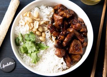Porc caramelisé et riz parfumé