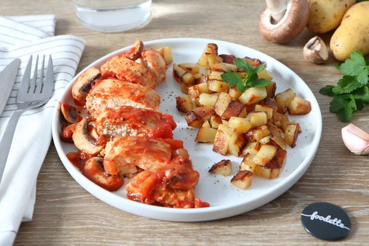 Poulet fa on marengo la recette de poulet fa on marengo foodette - Poulet marengo recette ...
