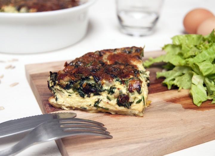 Tarte trompe-l'oeil au cresson et gorgonzola